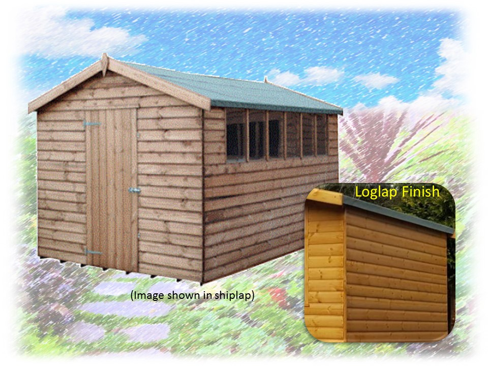 Apex Deluxe Loglap Shed Theshedshopskycom Free - Difference between log lap sheds and ship lap sheds