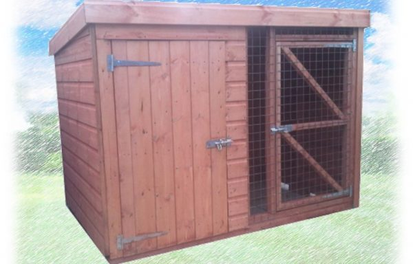 Dog Kennel With Combined Run 4ft High